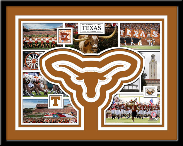 Texas Longhorns Memories Collage Framed Picture