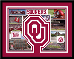 Oklahoma Sooners Memories Collage Framed Picture
