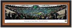 Notre Dame Basketball Purcell Pavilion Framed Picture