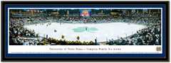 Notre Dame Hockey Compton Family Ice Arena Framed Picture matted