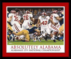 Alabama Framed Art Print Absolutely Alabama by Rich Rush
