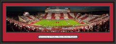 Utah Utes Stripe the Stadium Panoramic Poster