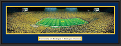 Michigan Stadium Under the Lights II Framed Picture