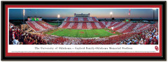 Oklahoma Sooners Stripe the Stadium Panoramic Framed Picture matted