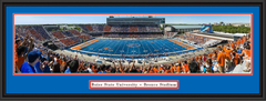 Boise State Stripe the Stadium Panoramic Framed Picture
