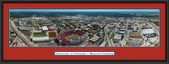 Nebraska Memorial Stadium Aerial Panoramic Poster