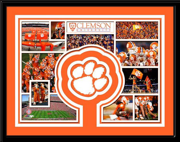 Clemson Tigers Memories Collage Framed Picture