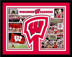 Wisconsin Badgers Memories Collage Framed Picture