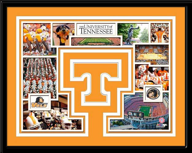 Tennessee Volunteers Memories Collage Framed Picture
