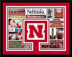 Nebraska Huskers Memories Collage Framed Picture