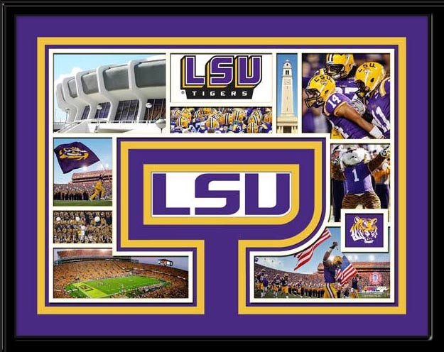 Lsu Tigers Memories Collage Framed Picture