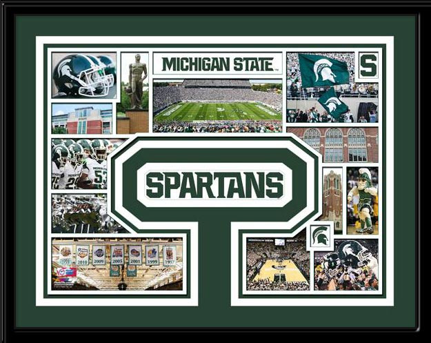 Msu Spartans Memories Collage Framed Picture