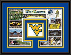 West Virginia Mountaineers Memories Collage Framed Picture
