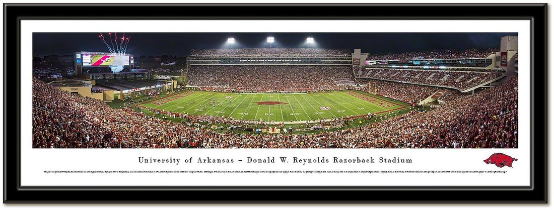 Arkansas Donald W. Reynolds Razorback Stadium Framed Picture no mat