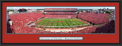 Nebraska Cornhuskers Memorial Stadium Framed Print