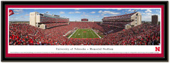 Nebraska Sea of Red Memorial Stadium End Zone Photo matted