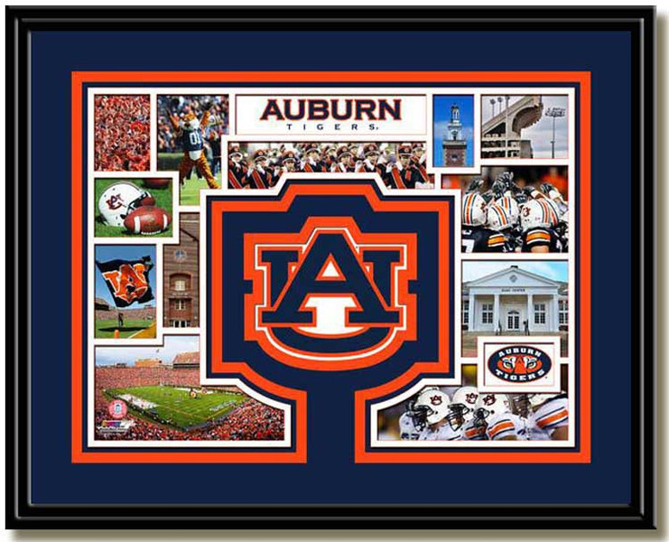 Auburn Tigers Memories and Milestones Framed Picture
