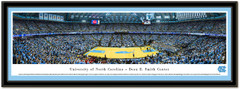 North Carolina Dean E. Smith Center Basketball Framed Picture matted