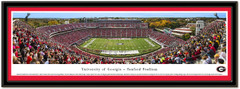 Georgia Bulldogs Saturday in Athens Panoramic Poster matted