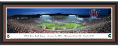 Michigan State 2014 Rose Bowl Panoramic Framed Print