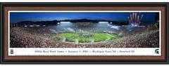 Michigan State 2014 Rose Bowl Panoramic Framed Print