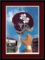 Mississippi State Victory Football Helmet Framed Print