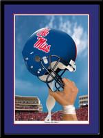 Ole Miss Victory Football Helmet Framed Print