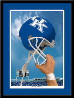 Kentucky Wildcats Victory Football Helmet Framed Print
