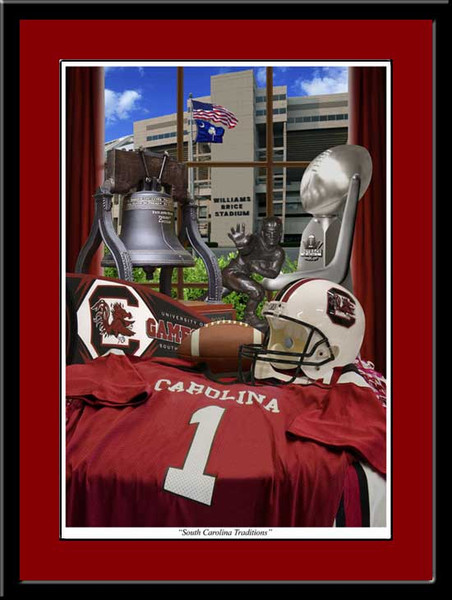 South Carolina Traditions Framed Football Print
