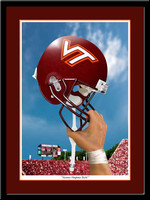 Virginia Tech Victory Helmet Hokies Football Print