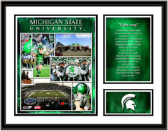 Michigan State Memories and Milestones Framed Picture
