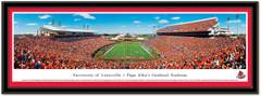 Louisville Cardinal Papa John's Cardinal Stadium Framed Picture matted
