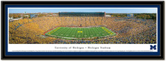 Michigan Stadium Expansion Panoramic Framed Poster matted