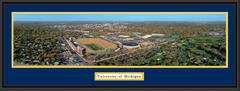 Michigan Stadium Aerial View Framed Poster