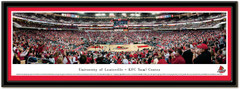 Louisville Cardinal KFC Yum! Center Basketball Framed Picture matted
