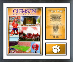 Clemson Memories and Milestones Framed Picture