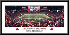 Oklahoma Sooners Big 12 Champions 2010 Framed Poster