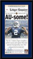 AU-some! Auburn National Championship Headlines Framed Poster