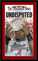 Alabama Undisputed Mark Ingram with Trophy 2010 Front Page Headlines