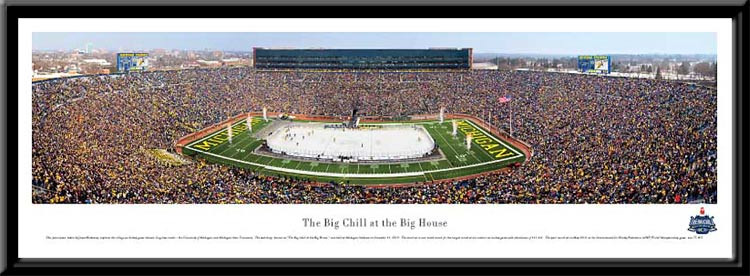 The Big Chill at The Big House Panoramic Poster