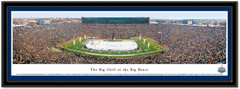 The Big Chill at The Big House Panoramic Poster Blue mat