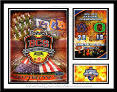 Auburn BCS Champions Memories and Milestones Framed Picture