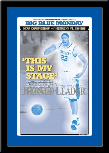 Kentucky 2012 Player of the Year Anthony Davis Headlines Framed