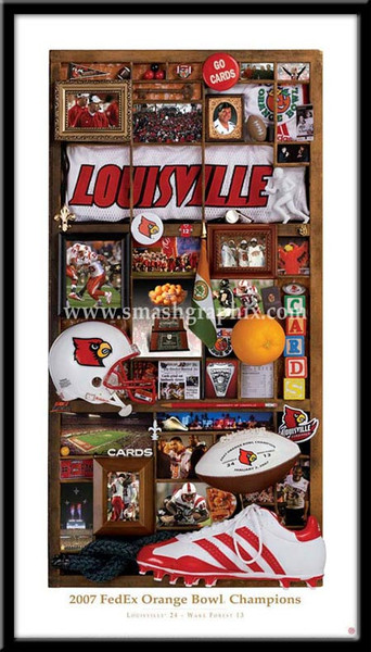 Louisville 2007 FedEx Orange Bowl Framed Print