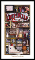 Louisville Basketball Through the Years Framed Picture