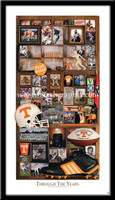 Tennessee Football Through the Years Framed Print