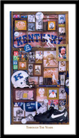 Kentucky Wildcats Football Through the Years Framed Picture