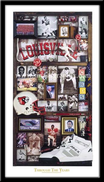 Louisville Cardinals Through the Years Football Print