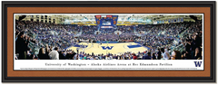 Washington Husky Framed Basketball Panoramic Poster