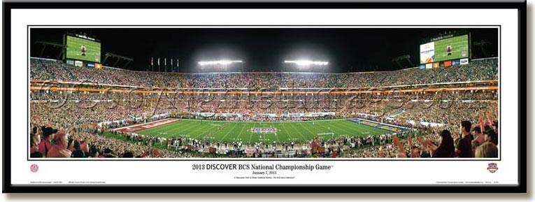 Alabama 2013 Bcs Football National Champions Panoramic Print